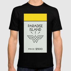 Paradise City Monopoly Location MEDIUM Black Mens Fitted Tee