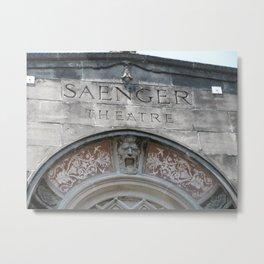 Saenger Theater Embellishment Metal Print