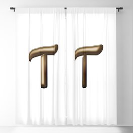 Chocolate Letter T Blackout Curtain