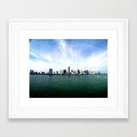 miami Framed Art Prints featuring Miami  by JairovPhotolab