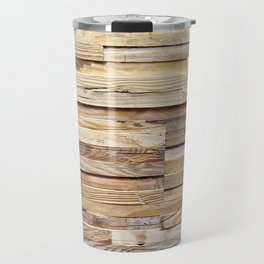 Background of old wooden pieces Travel Mug