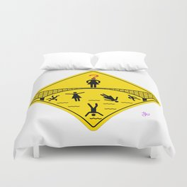 Jump Off Bridge Girl Duvet Cover