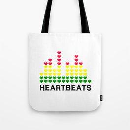 HeartBeats (Black) Tote Bag