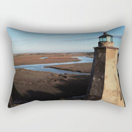 Old Baldy Lighthouse | Drone Photo | Bald Head Island, NC Rectangular Pillow