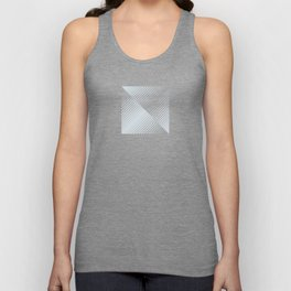 gradient stripes triangles in ice gray and white Unisex Tank Top
