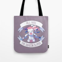 sylveon Tote Bags featuring All Hail Sylveon V2 by Solis