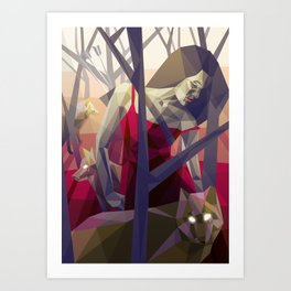 Of the hunt Art Print