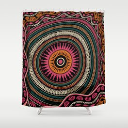 Abstract tribal background Shower Curtain