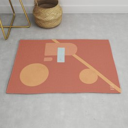#18 Red space Rug