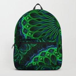 Pretty glowing green mandala Backpack