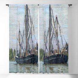 Claude Monet - Chasse-marée à l'ancre Blackout Curtain