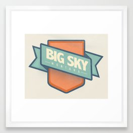 Big Sky, Montana Framed Art Print