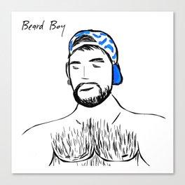 Beard Boy: Claude Canvas Print