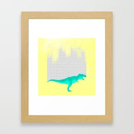 dino got the blues, or not! Framed Art Print