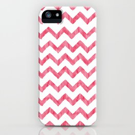 Chevron Red And White iPhone Case