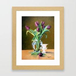 A Gift of Tulips Framed Art Print