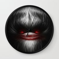 evil Wall Clocks featuring EVIL by Dr. Lukas Brezak