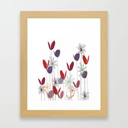 Flowers print, impresion decorativa Framed Art Print