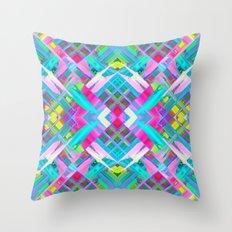Colorful digital art splashing G481 Throw Pillow