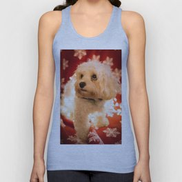 Poppy at Christmas Unisex Tank Top