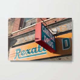 Carlisle drug sign Metal Print