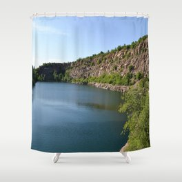 Flooded Quarry Shower Curtain