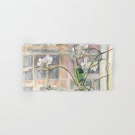 Orchid on a windowsill Hand & Bath Towel
