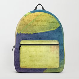 Bold Watercolor Words 4 Backpack