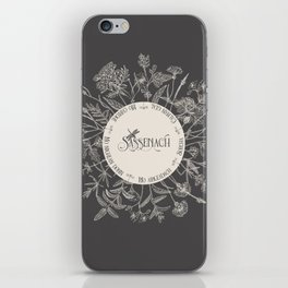 Dear Sassenach in Grey iPhone Skin