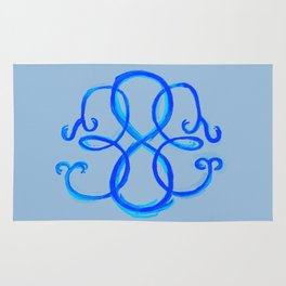 Path Of Life- Symbol (Gray / Blue) Rug