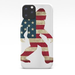Bigfoot american flag iPhone Case