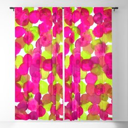 Watercolor Circles - Pink & Lime Green Blackout Curtain