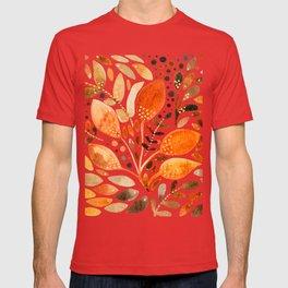 Autumn watercolor leaves T-shirt