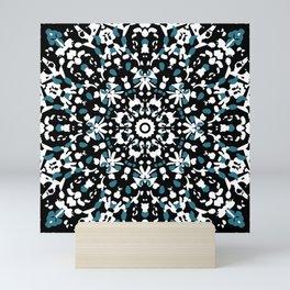 Rose window in blue Mini Art Print
