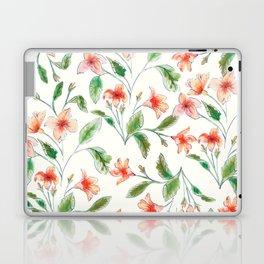 Orange Watercolor Botanical Pattern Laptop & iPad Skin