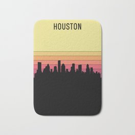 Houston Skyline Bath Mat
