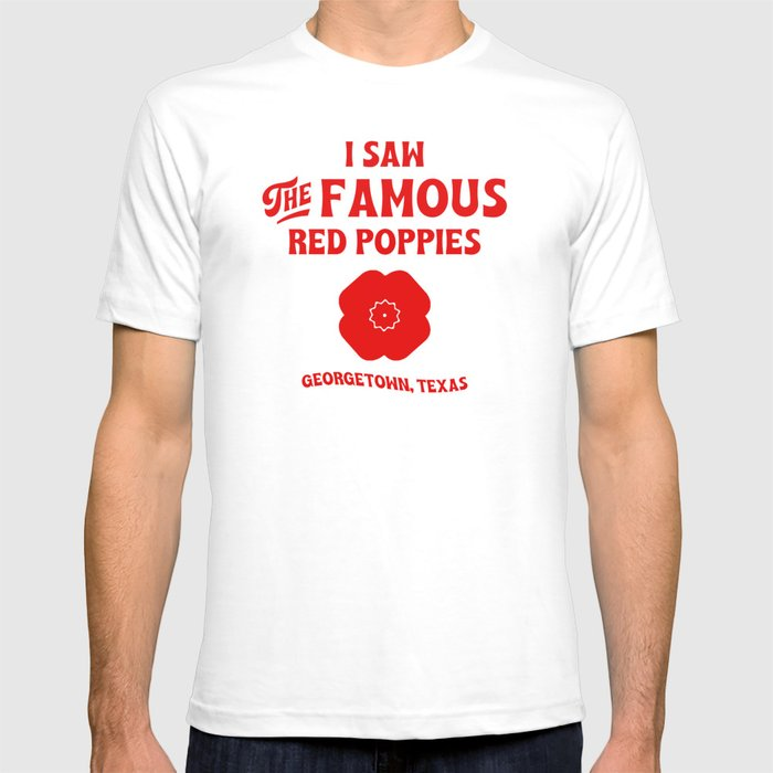 Famous red poppies - red T-shirt