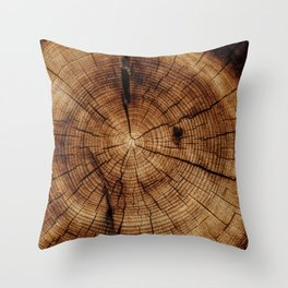 Noble tree in cut Throw Pillow