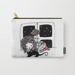 Melita with a kitty Carry-All Pouch