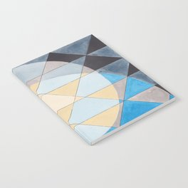 Triangle Pattern No. 14 Circles in Black, Blue and Yellow Notebook
