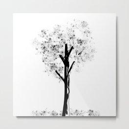 AG Black Tree Metal Print