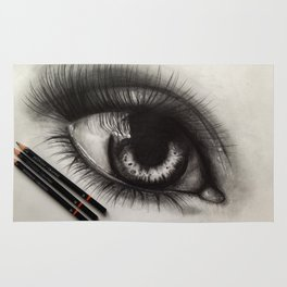 3 Pencils. 1 Hour 10 Minutes Drawing an Eye Rug