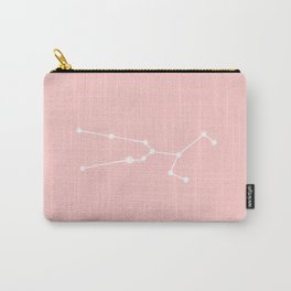 Taurus Star Sign Soft Pink Carry-All Pouch