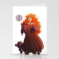 brave Stationery Cards featuring Brave by Samanthadoodles