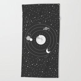 The Space Cat Beach Towel