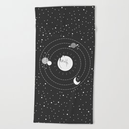 The Space Cat Beach Towel
