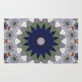 Patchwork Whimsy -- Vintage Block Quilt Mandala Kaleid0scope Rug
