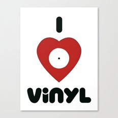 I Heart Vinyl Canvas Print