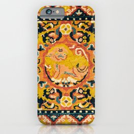 Shigatse Khagangma  Antique Tibetan Seat Mat Print iPhone Case