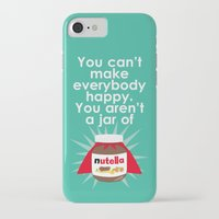 nutella iPhone & iPod Cases featuring Nutella fan poster. Nutella quote by Owlyprint